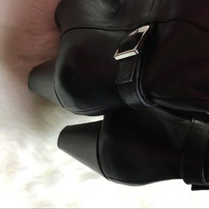 3baebd9f43b Marc Fisher Shoes - Marc Fisher 7.5 M Heeled Black Leather Tall Boots